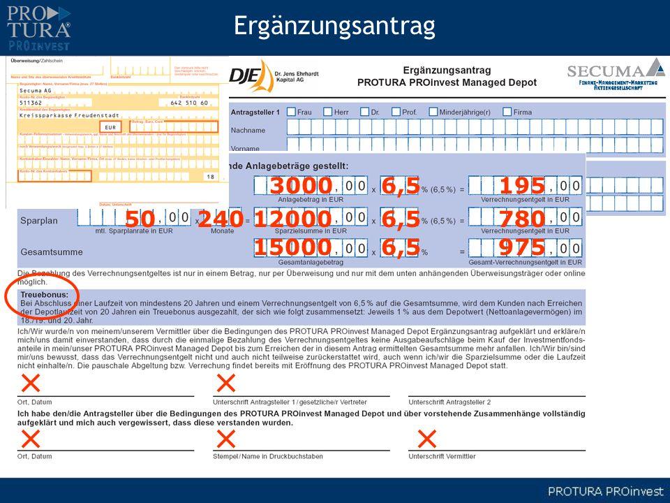Ergänzungsantrag 3000 6,5 195 50 240 12000 6,5 780 15000 6,5 975