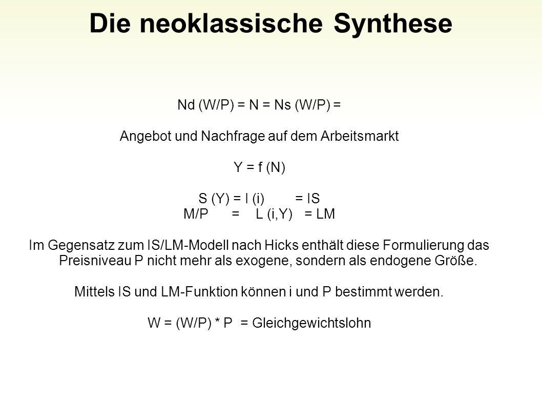 Die neoklassische Synthese