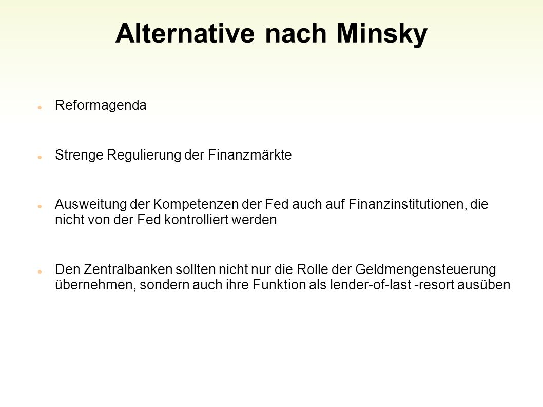 Alternative nach Minsky