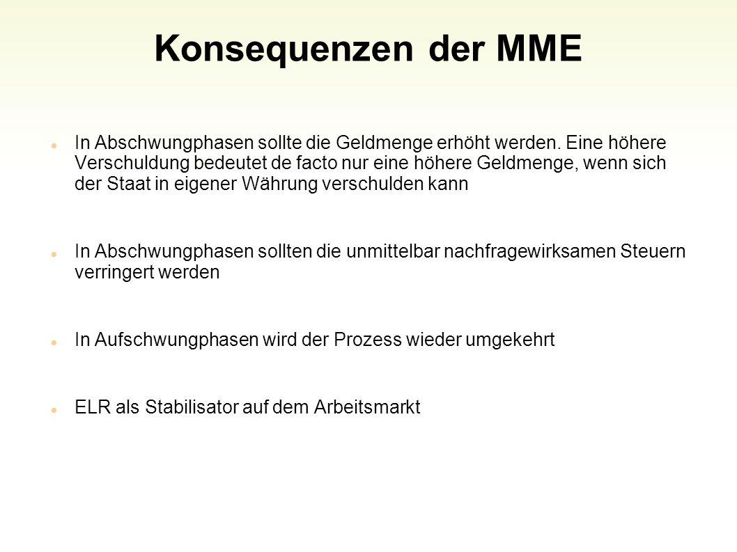 Konsequenzen der MME