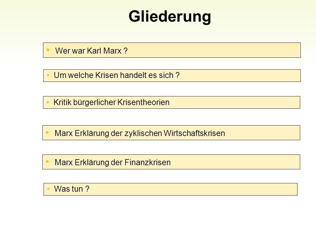 Gliederung Wer war Karl Marx