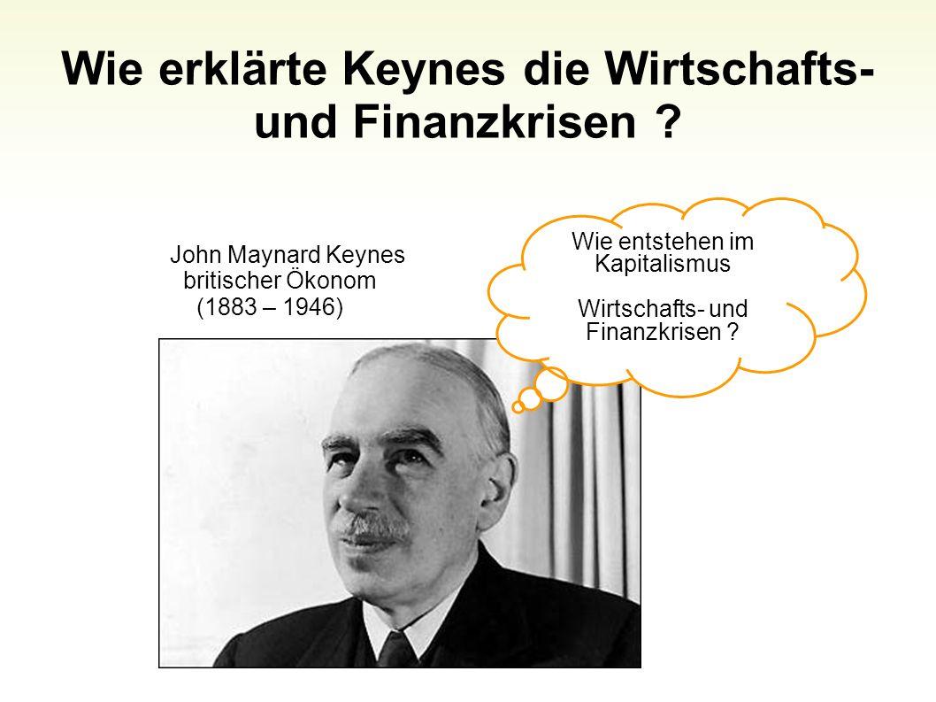 Wie erklärte Keynes die Wirtschafts- und Finanzkrisen