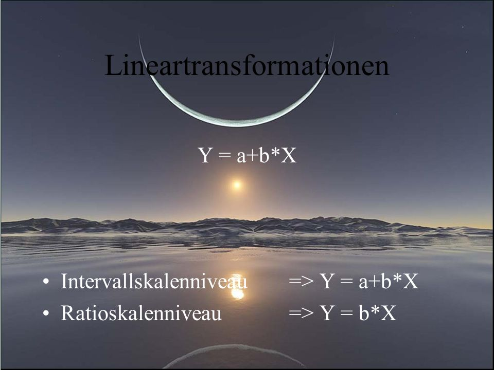 Lineartransformationen