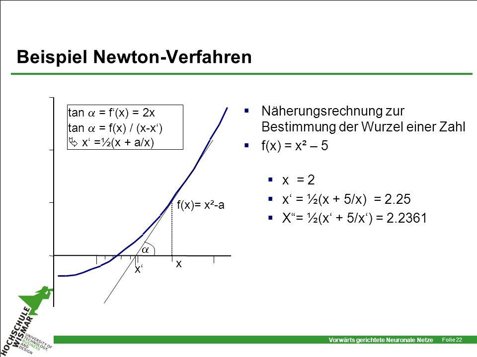 Beispiel Newton-Verfahren