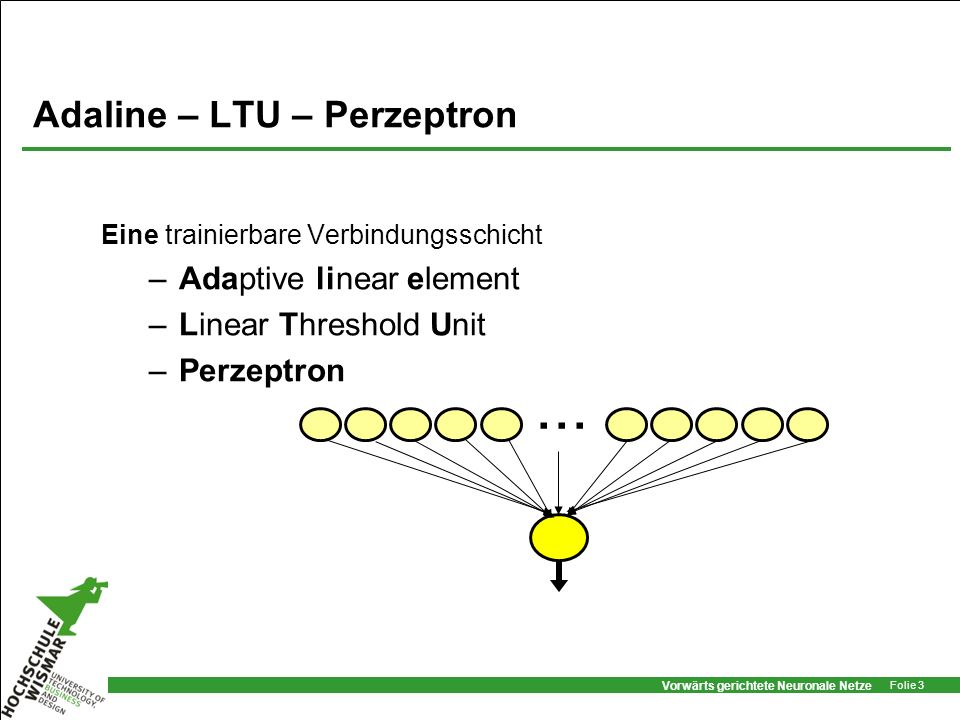 Adaline – LTU – Perzeptron