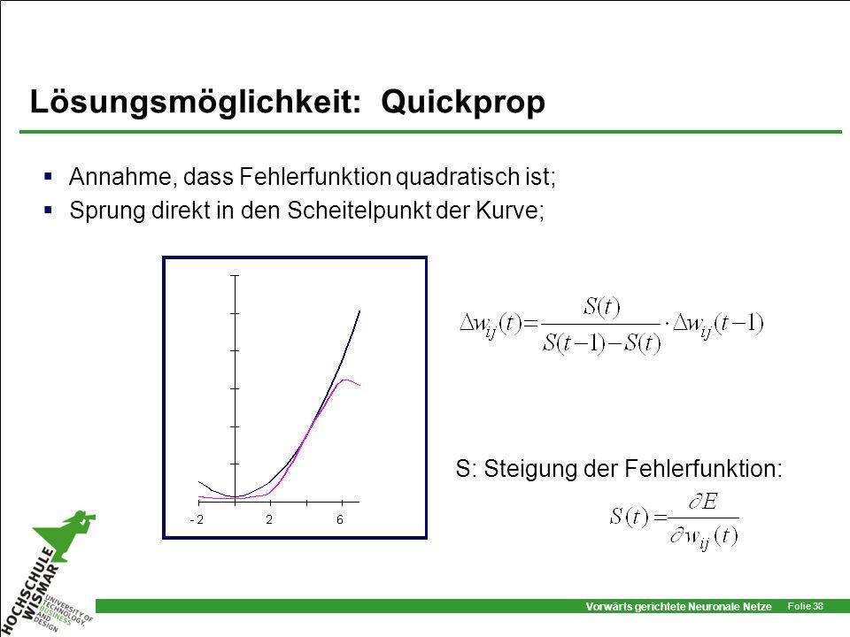 Lösungsmöglichkeit: Quickprop