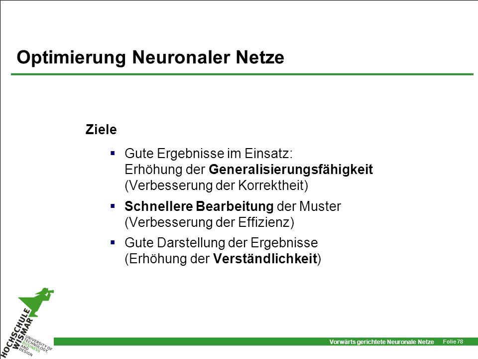 Optimierung Neuronaler Netze