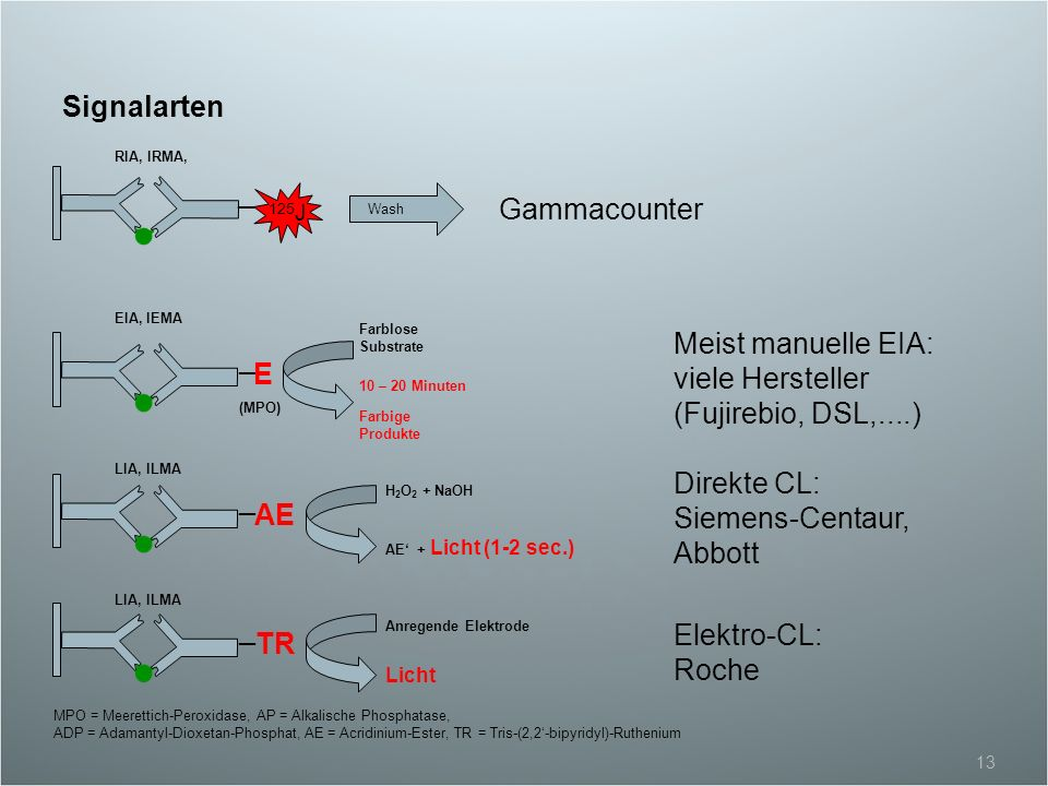 Meist manuelle EIA: viele Hersteller (Fujirebio, DSL,....) _ E