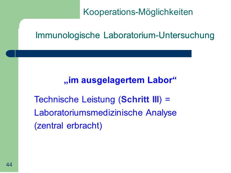 """""""im ausgelagertem Labor"""