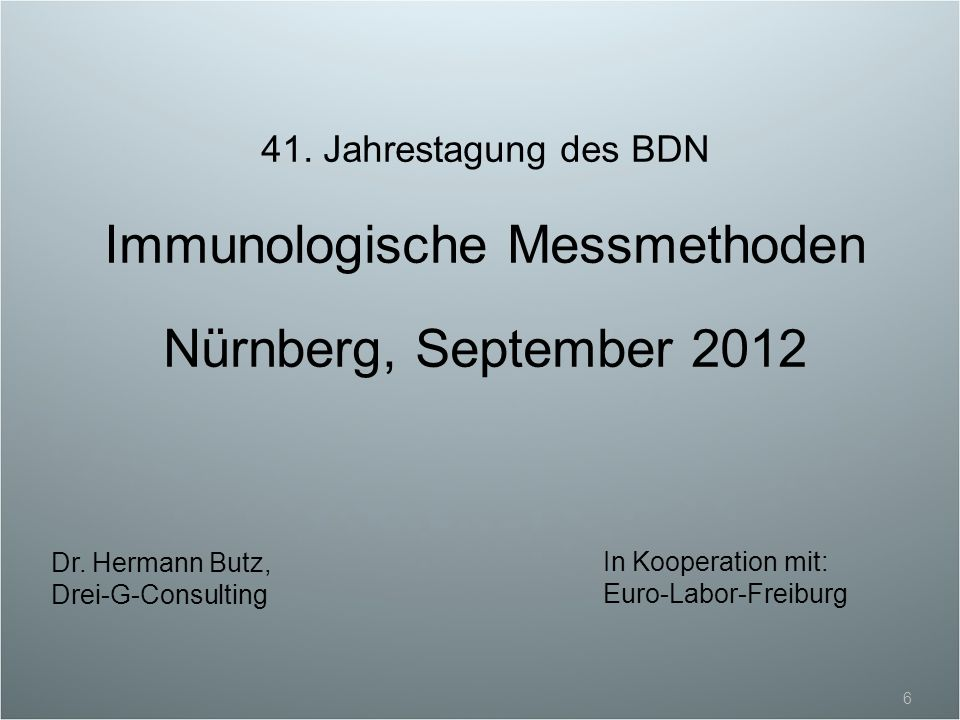 Immunologische Messmethoden