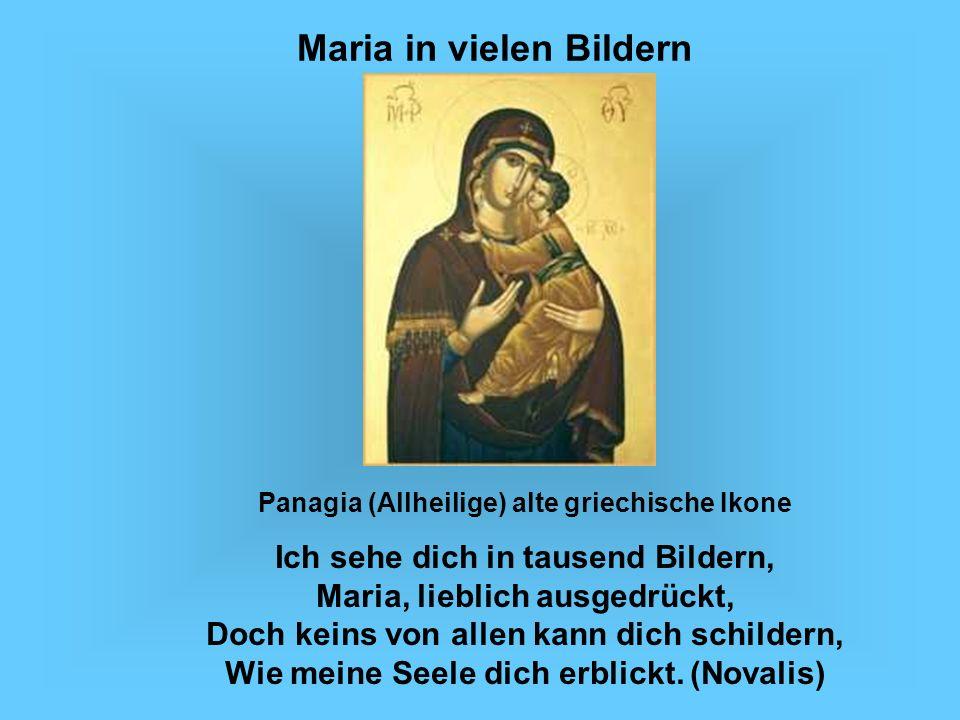Maria in vielen Bildern Panagia (Allheilige) alte griechische Ikone