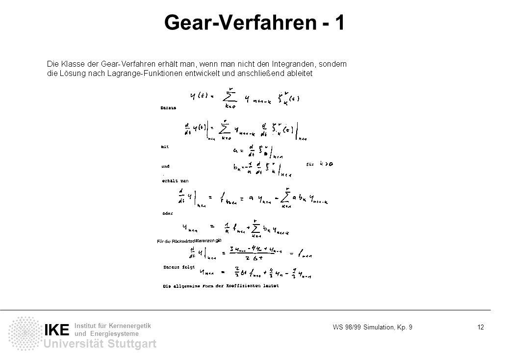 Gear-Verfahren - 1