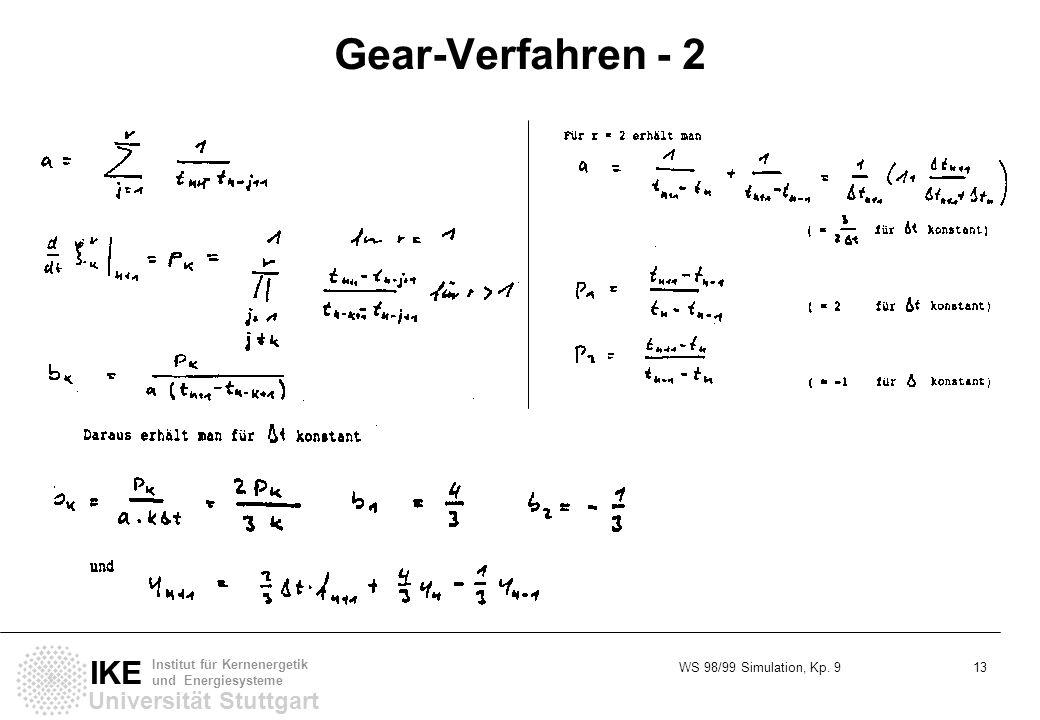 Gear-Verfahren - 2