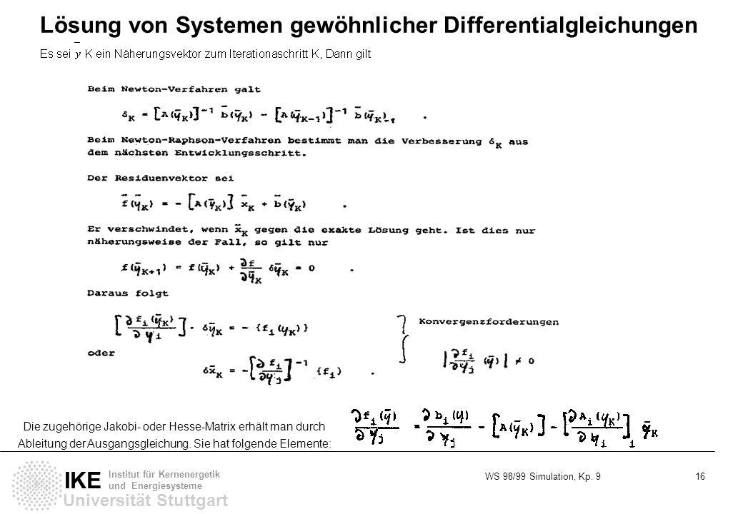Lösung von Systemen gewöhnlicher Differentialgleichungen