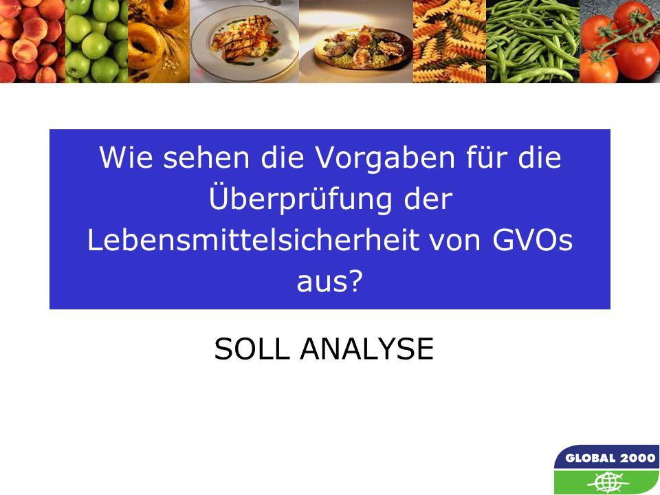 Wie sehen die Vorgaben für die Überprüfung der Lebensmittelsicherheit von GVOs aus