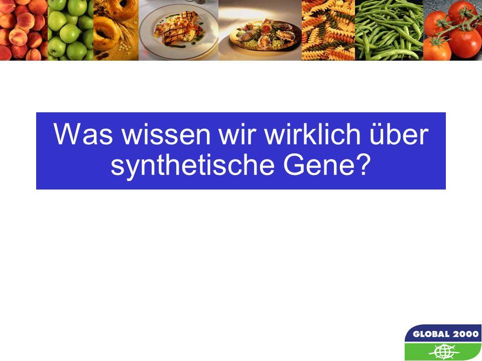 Was wissen wir wirklich über synthetische Gene