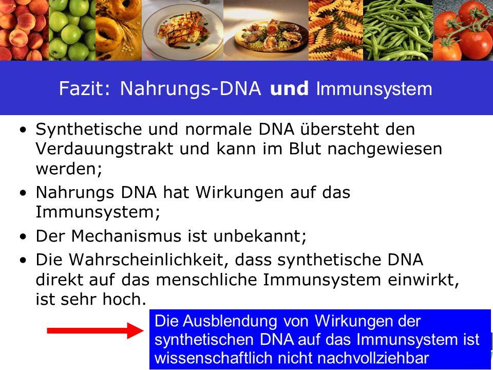 Fazit: Nahrungs-DNA und Immunsystem