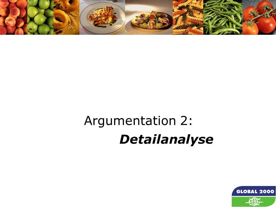 Argumentation 2: Detailanalyse