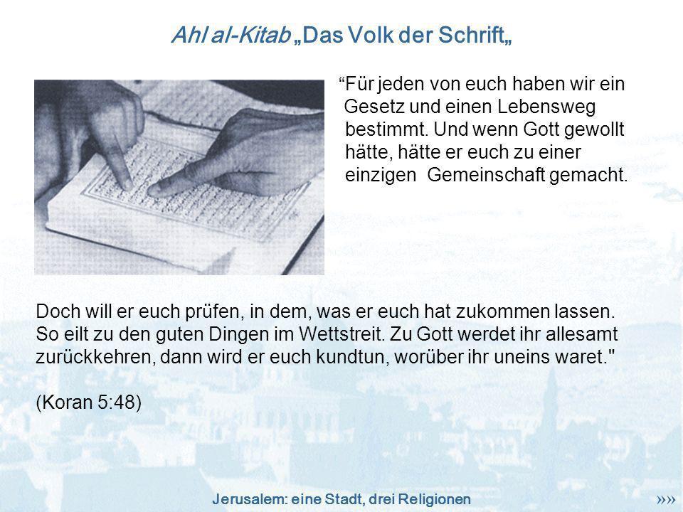 """Ahl al-Kitab """"Das Volk der Schrift"""""""