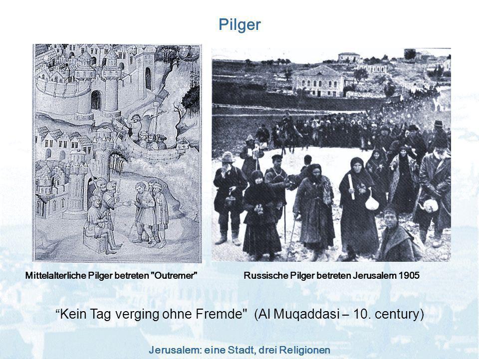 Russische Pilger betreten Jerusalem 1905