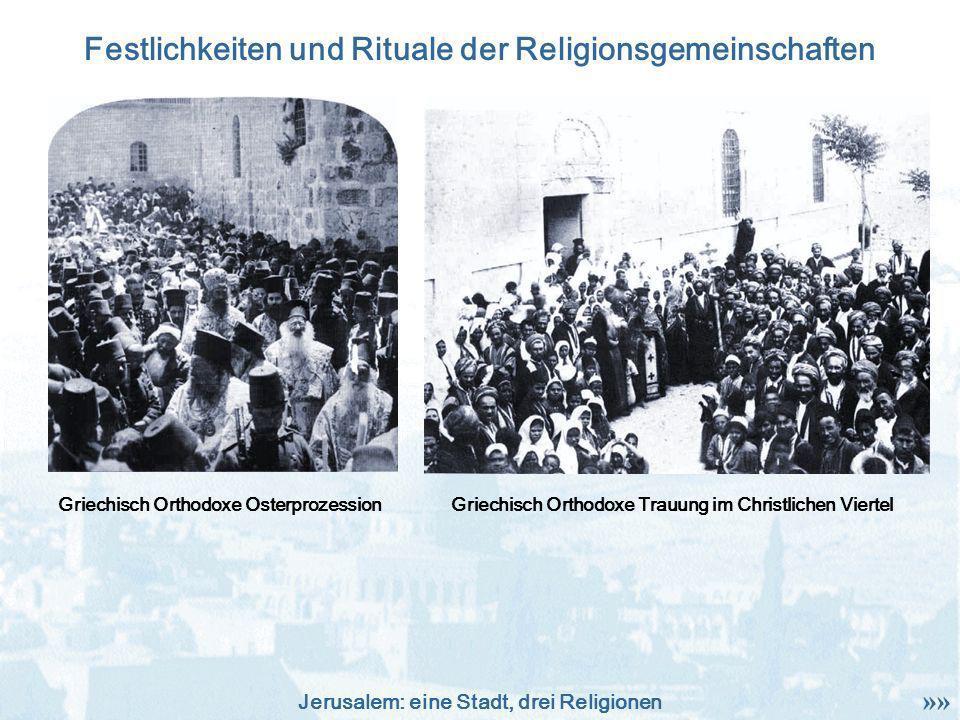 Festlichkeiten und Rituale der Religionsgemeinschaften