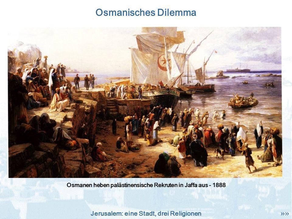 Osmanen heben palästinensische Rekruten in Jaffa aus - 1888