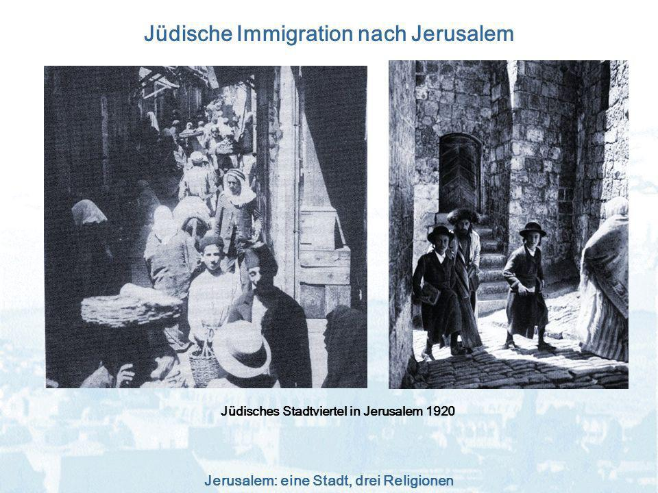 Jüdische Immigration nach Jerusalem