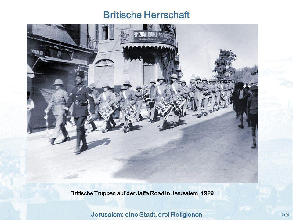 Britische Truppen auf der Jaffa Road in Jerusalem, 1929