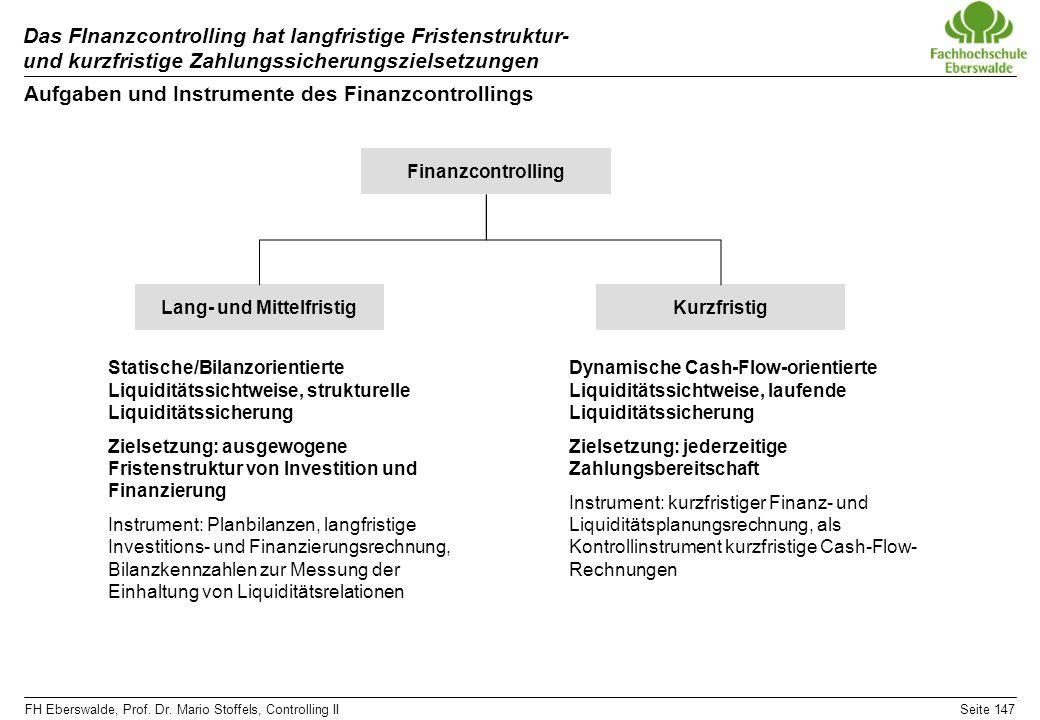 Aufgaben und Instrumente des Finanzcontrollings