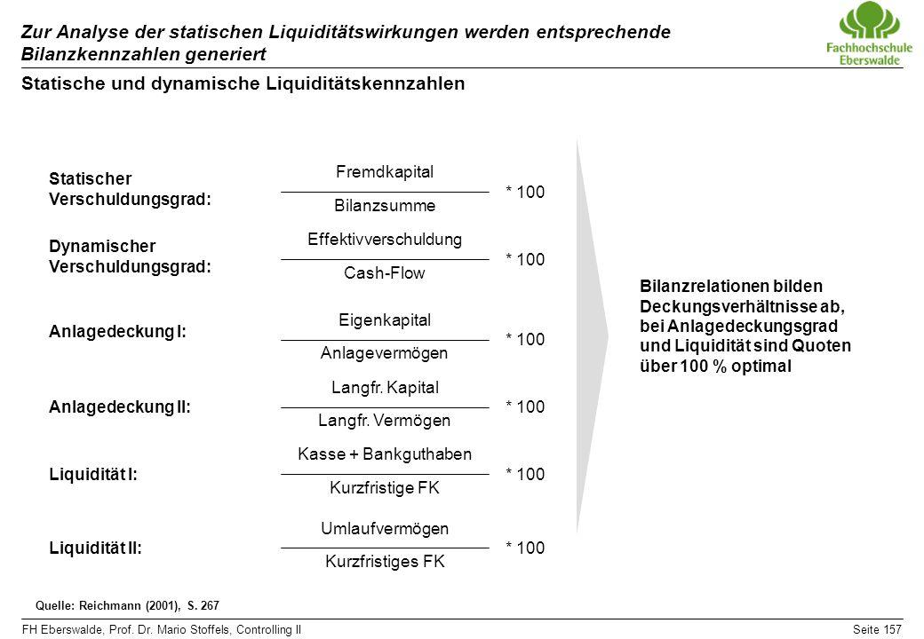 Statische und dynamische Liquiditätskennzahlen