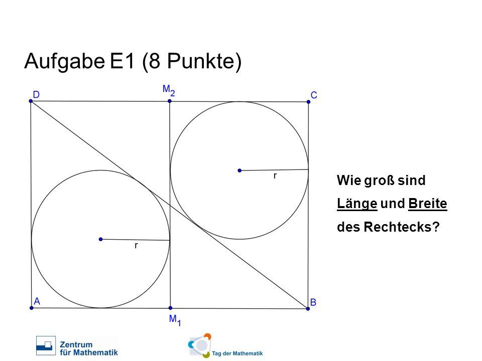 Aufgabe E1 (8 Punkte) Wie groß sind Länge und Breite des Rechtecks