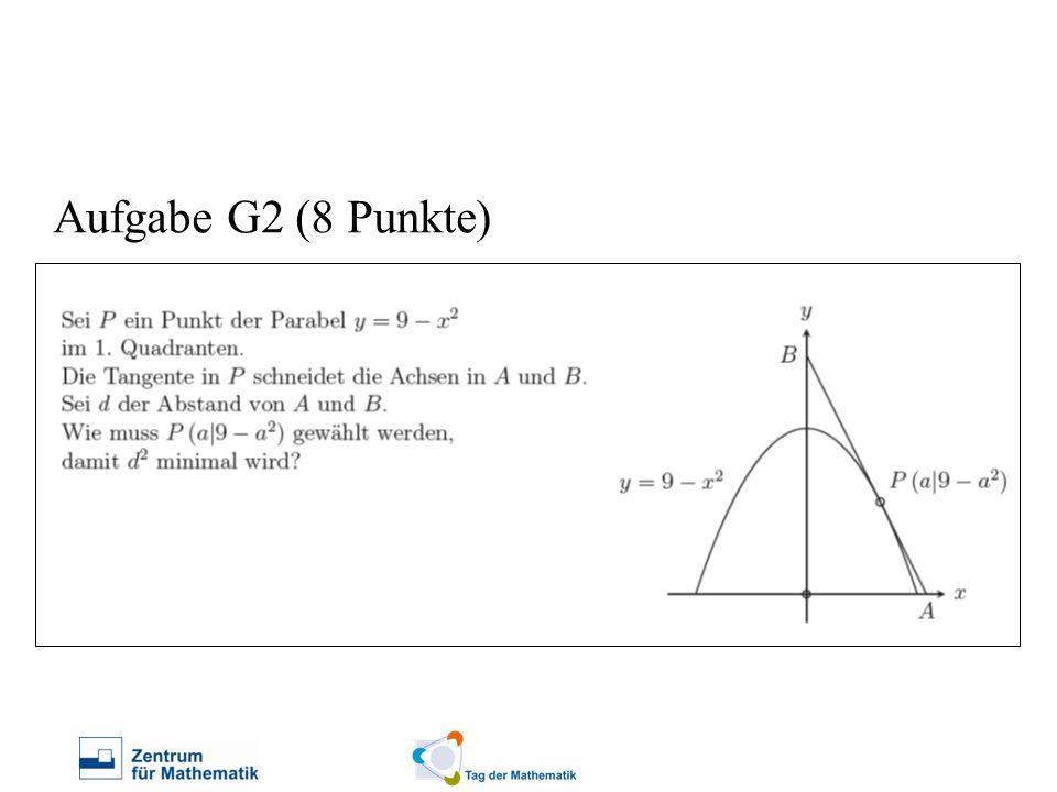 Aufgabe G2 (8 Punkte) Frage: