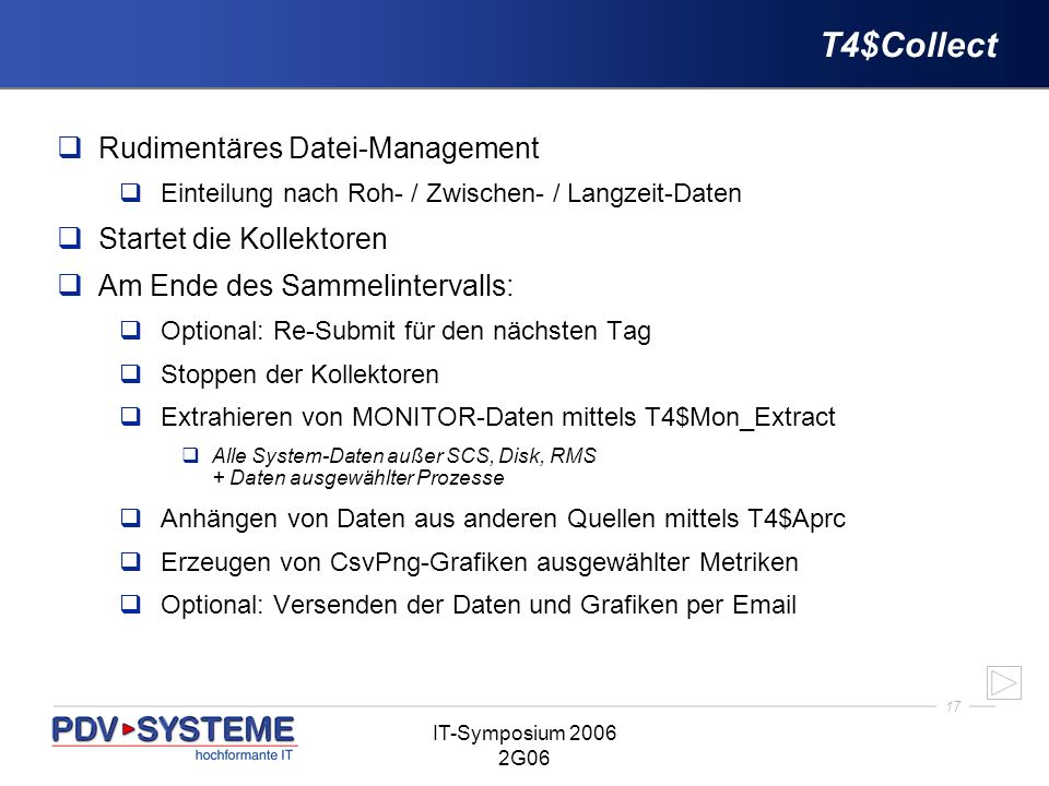 T4$Collect Rudimentäres Datei-Management Startet die Kollektoren