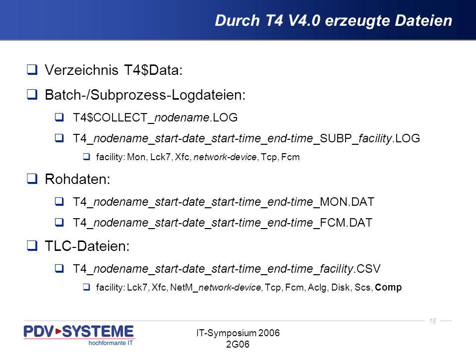 Durch T4 V4.0 erzeugte Dateien