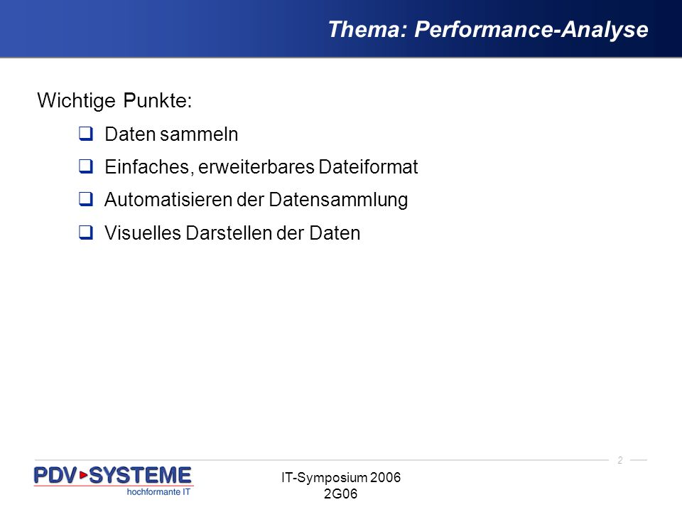 Thema: Performance-Analyse