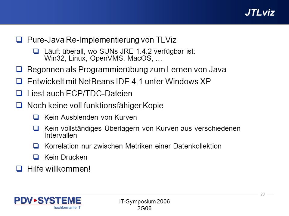 JTLviz Pure-Java Re-Implementierung von TLViz