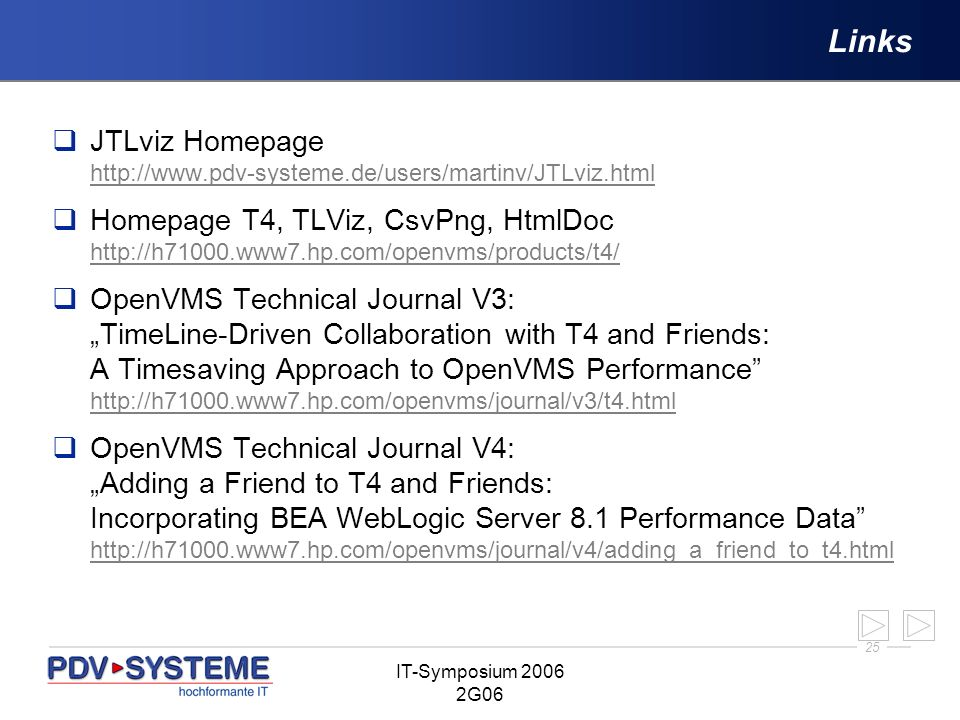 LinksJTLviz Homepage http://www.pdv-systeme.de/users/martinv/JTLviz.html.