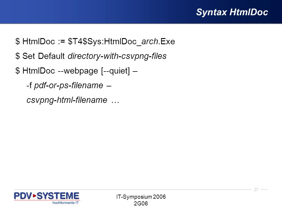 Syntax HtmlDoc $ HtmlDoc := $T4$Sys:HtmlDoc_arch.Exe