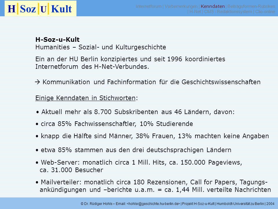 H Soz U Kult H-Soz-u-Kult Humanities – Sozial- und Kulturgeschichte