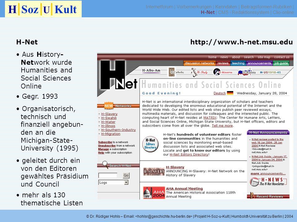 H Soz U Kult H-Net http://www.h-net.msu.edu