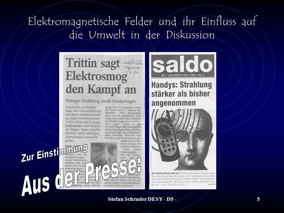 Stefan Schrader DESY - D5 -