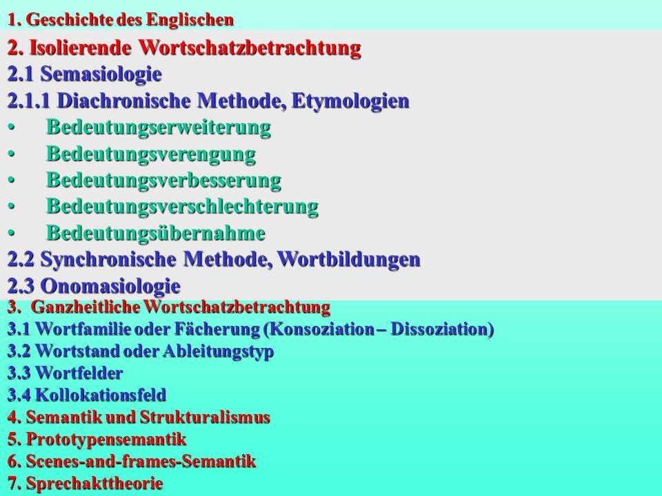 2. Isolierende Wortschatzbetrachtung 2.1 Semasiologie