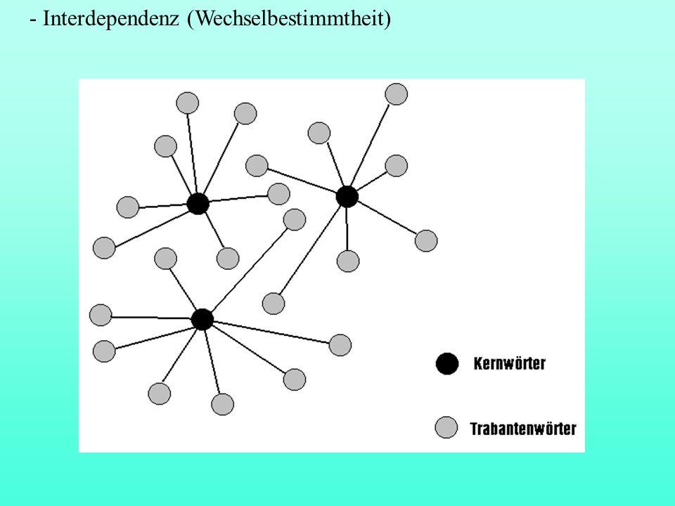 - Interdependenz (Wechselbestimmtheit)