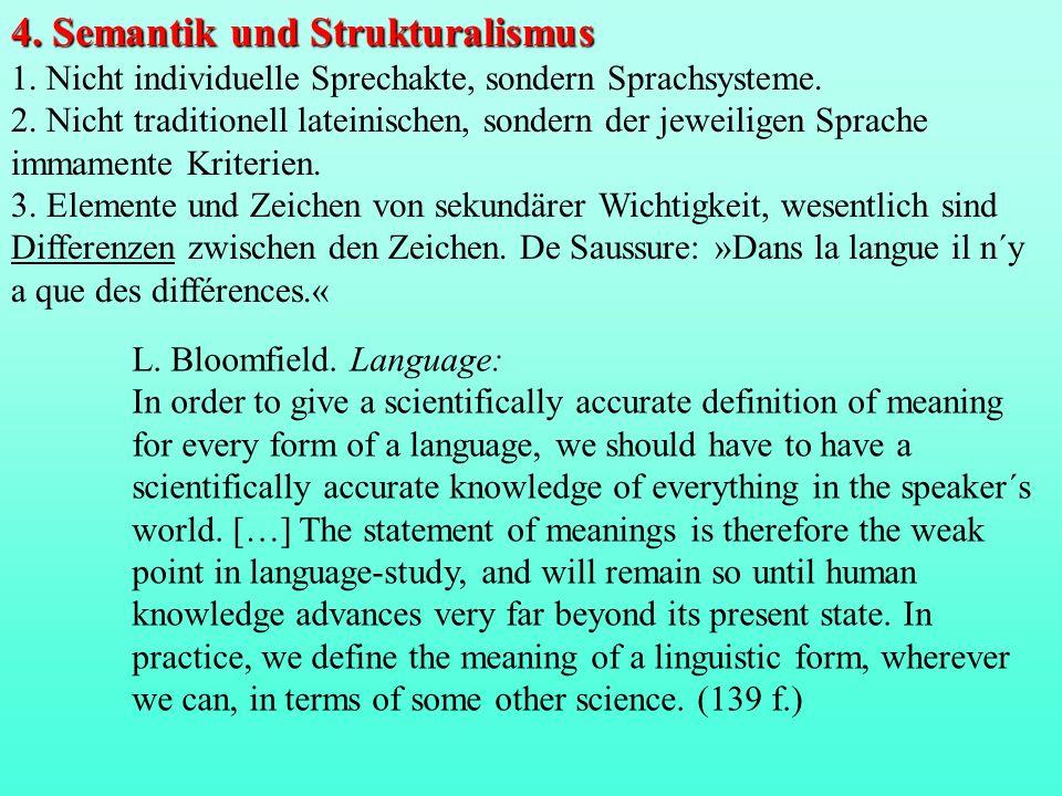 4. Semantik und Strukturalismus