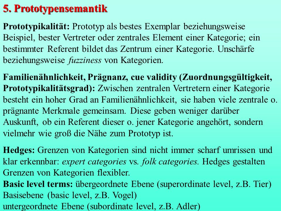 5. Prototypensemantik