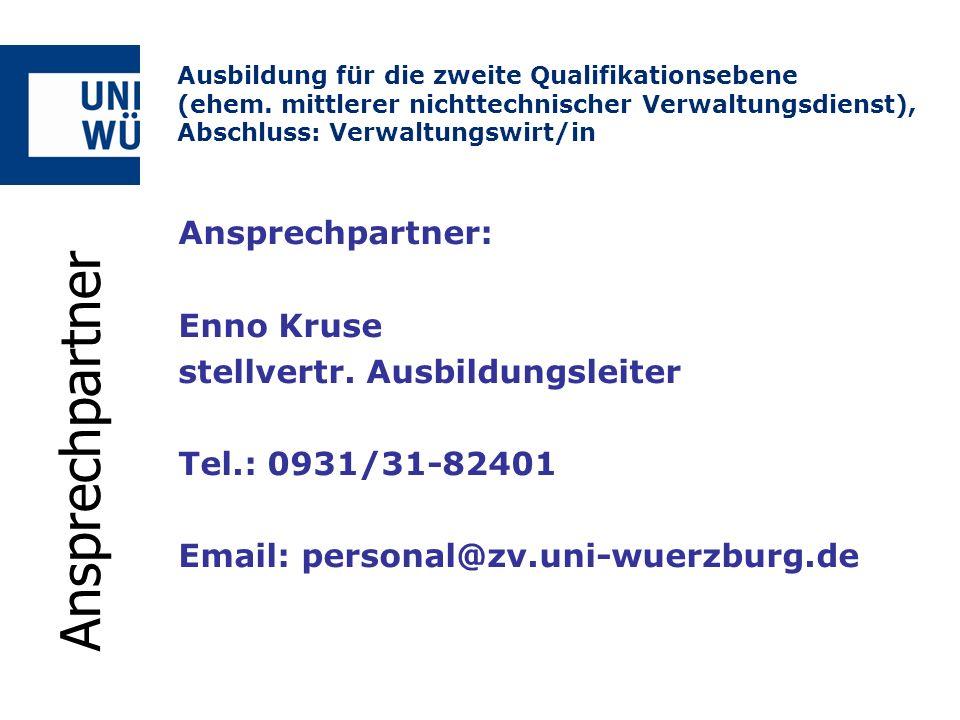 Ansprechpartner Ansprechpartner: Enno Kruse