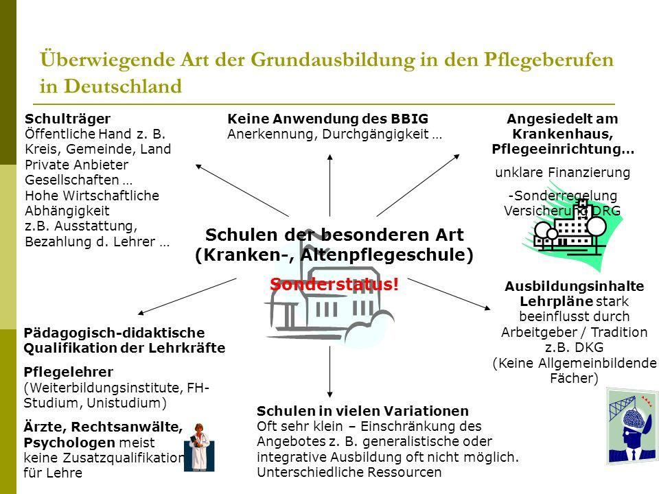 Überwiegende Art der Grundausbildung in den Pflegeberufen in Deutschland