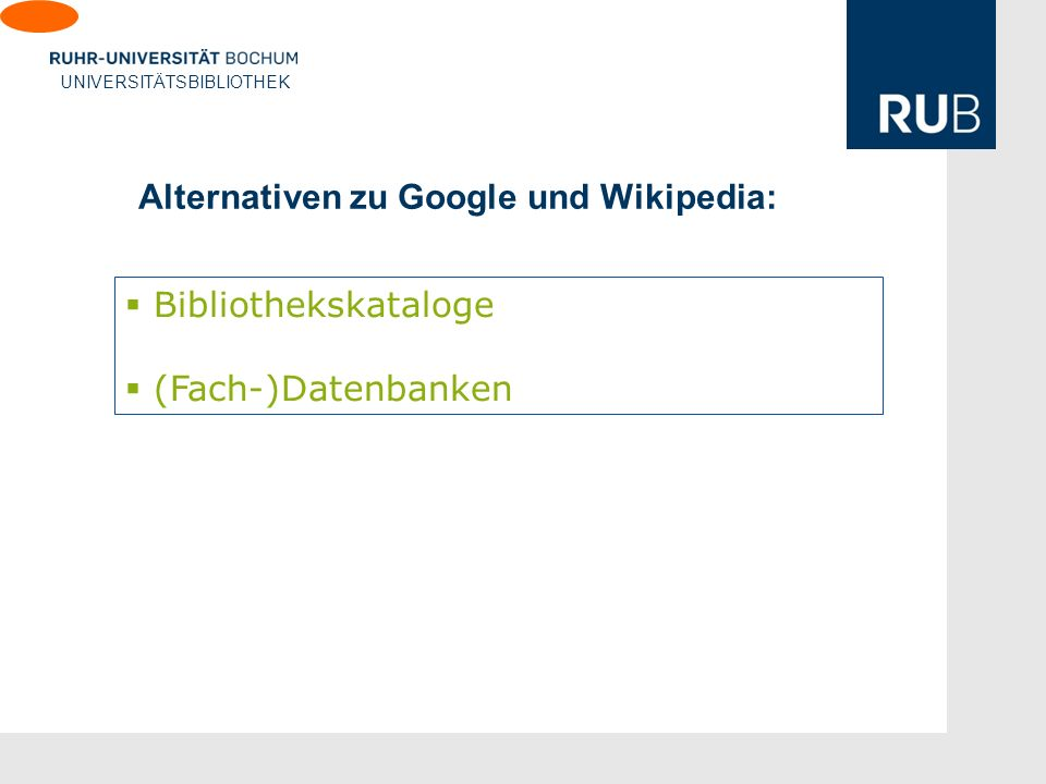 Alternativen zu Google und Wikipedia: