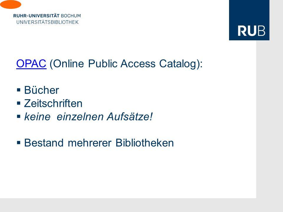 OPAC (Online Public Access Catalog):