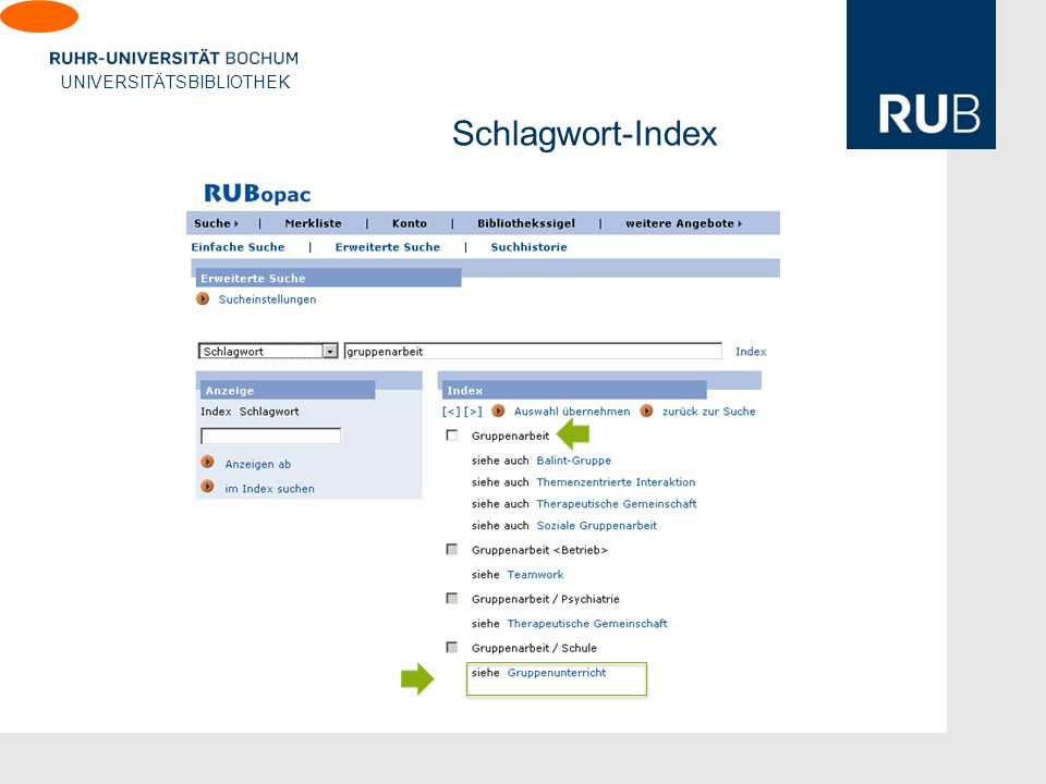 Schlagwort-Index